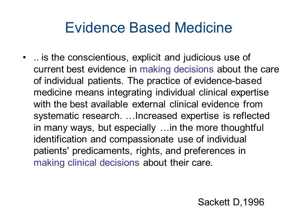 Evidence Based Medicine..