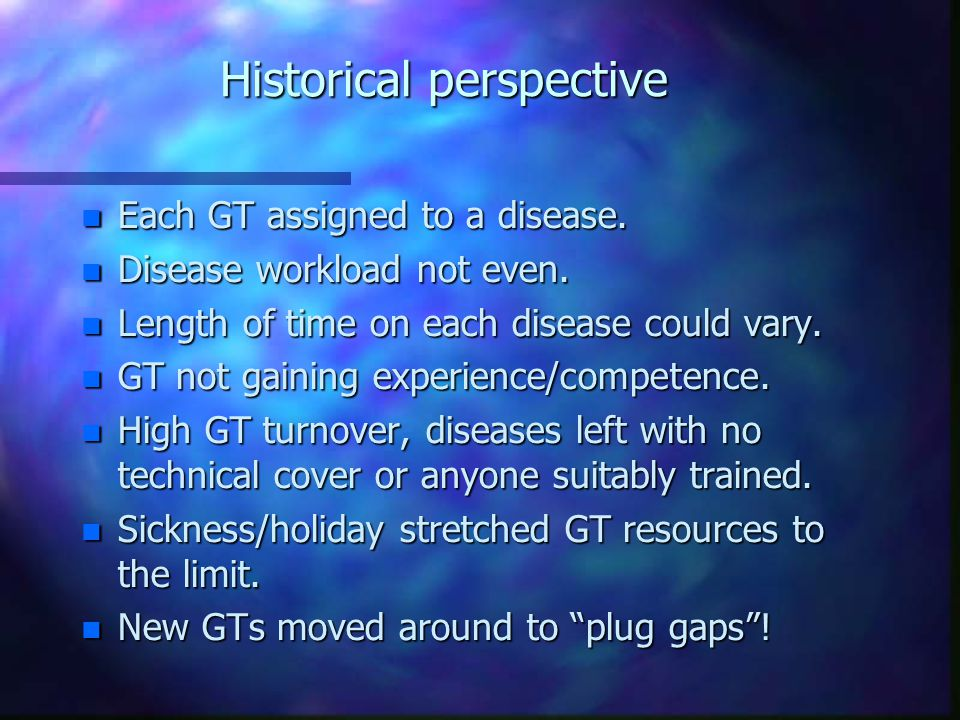 GT Rotation – Progress Review n MTO3s greater responsibility for managing lab workload.