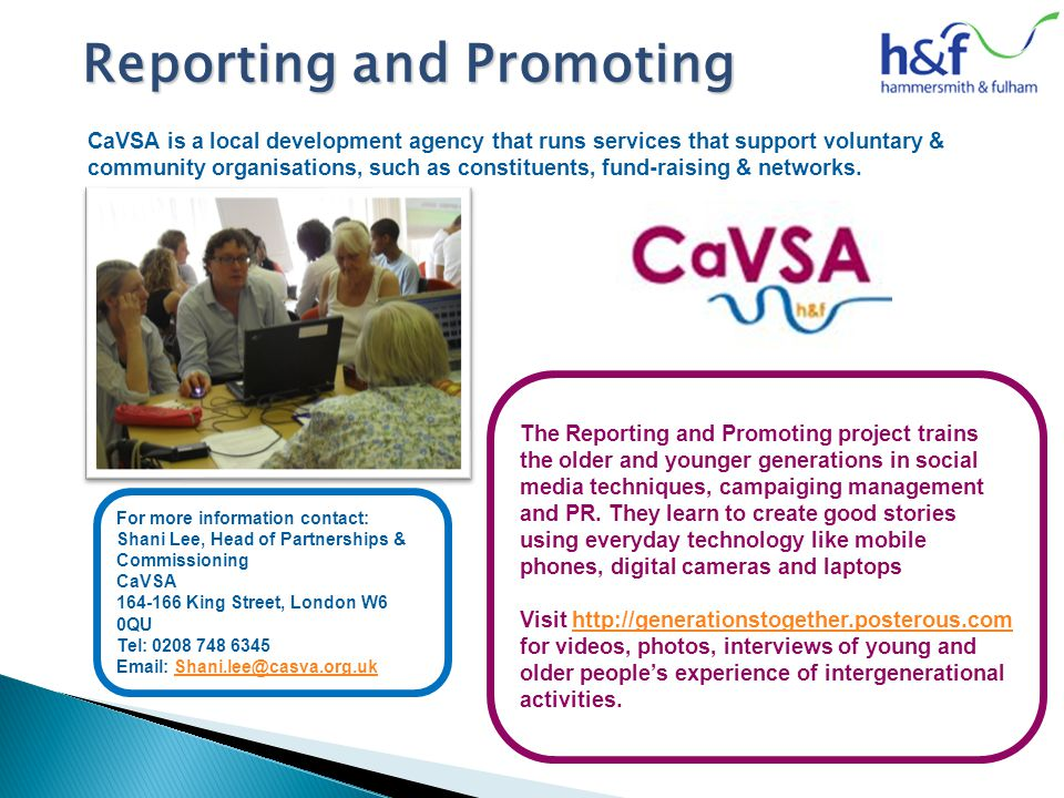 CaVSA is a local development agency that runs services that support voluntary & community organisations, such as constituents, fund-raising & networks.