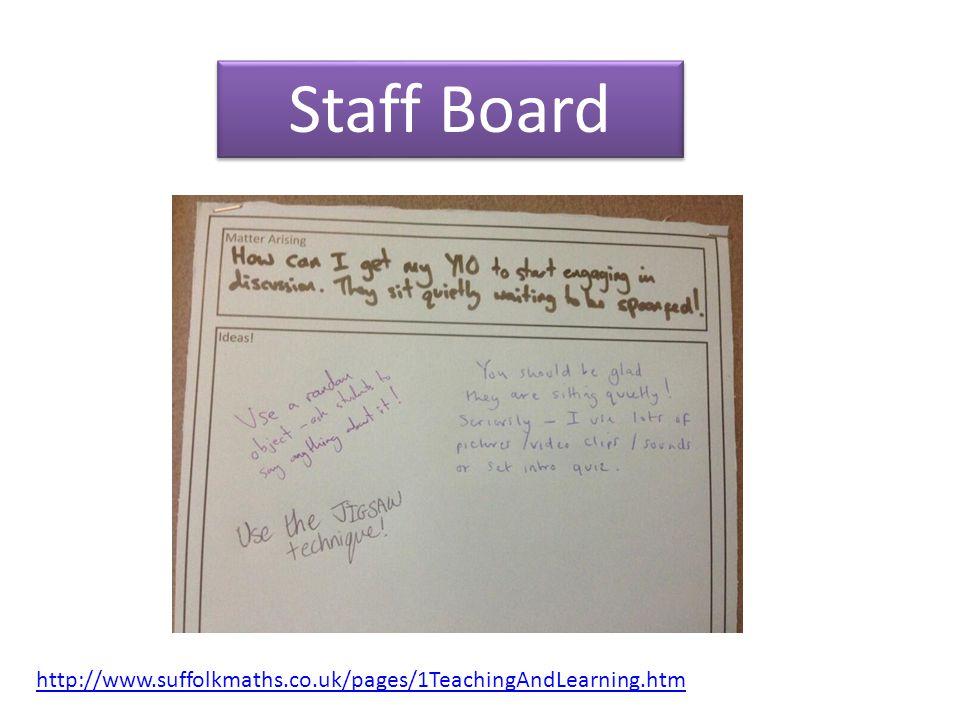 Staff Board