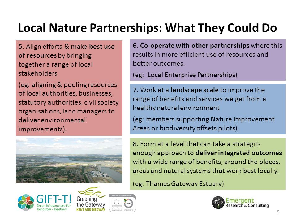 Local Nature Partnerships: What They Could Do 5 5.
