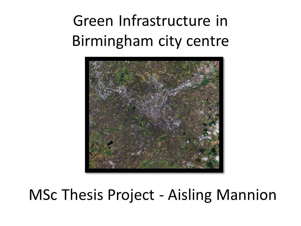 Potential GI in Birmingham – street level