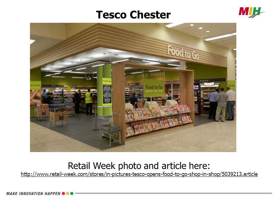 Tesco Chester; Food to Go Concept Shop within a shop . Costa Coffee is adjacent. Easy in & out.