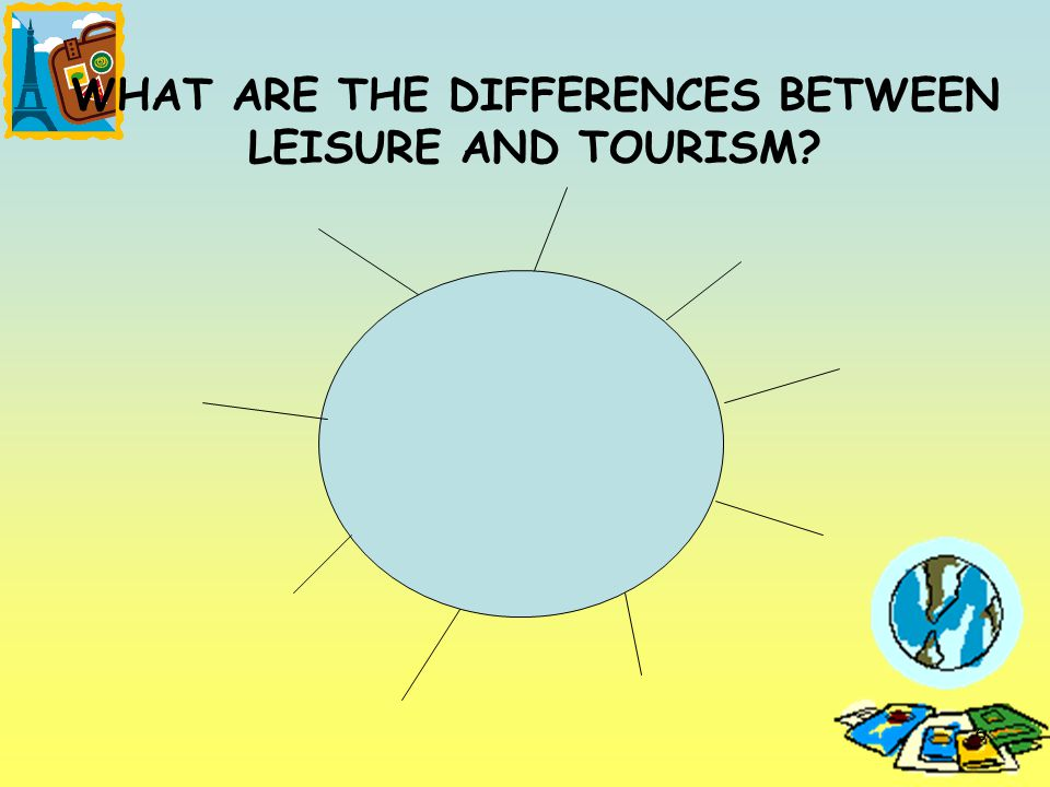 6 WHAT ARE THE DIFFERENCES BETWEEN LEISURE AND TOURISM?