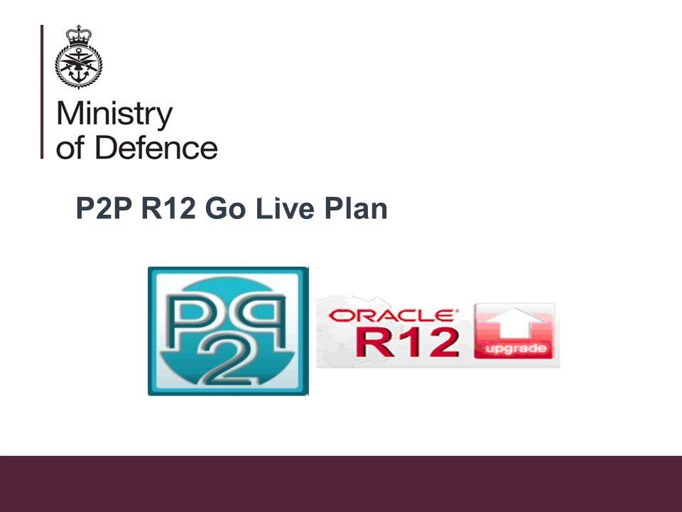 P2P R12 Go Live Plan P2P R12 Upgrade – Go Live Plan