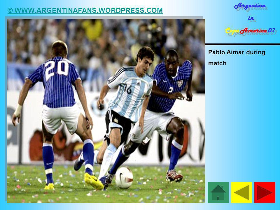 © WWW.ARGENTINAFANS.WORDPRESS.COM Argentina in Copa America 07 Argentina in Copa America 07 Pablo Aimar during match