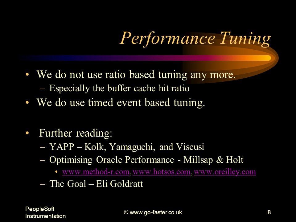 PeopleSoft Instrumentation © www.go-faster.co.uk9 Performance Instrumentation Oracle does understand instrumentation.
