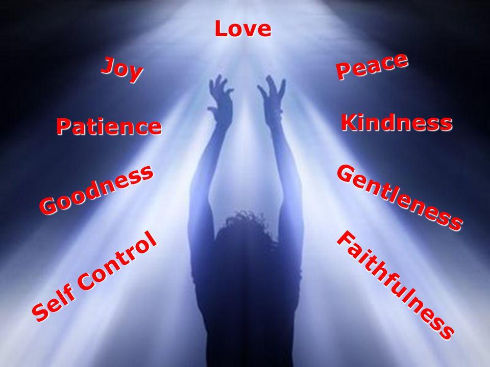 Love Joy Peace Patience Goodness Kindness Gentleness Self Control Faithfulness