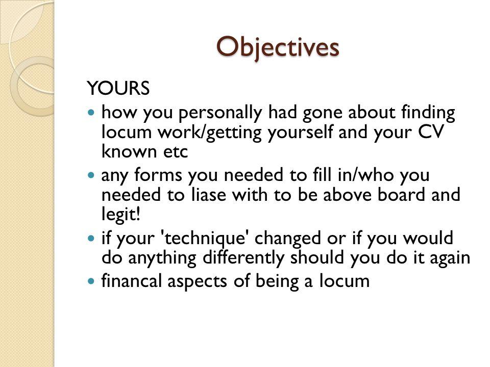 Objectives MINE.