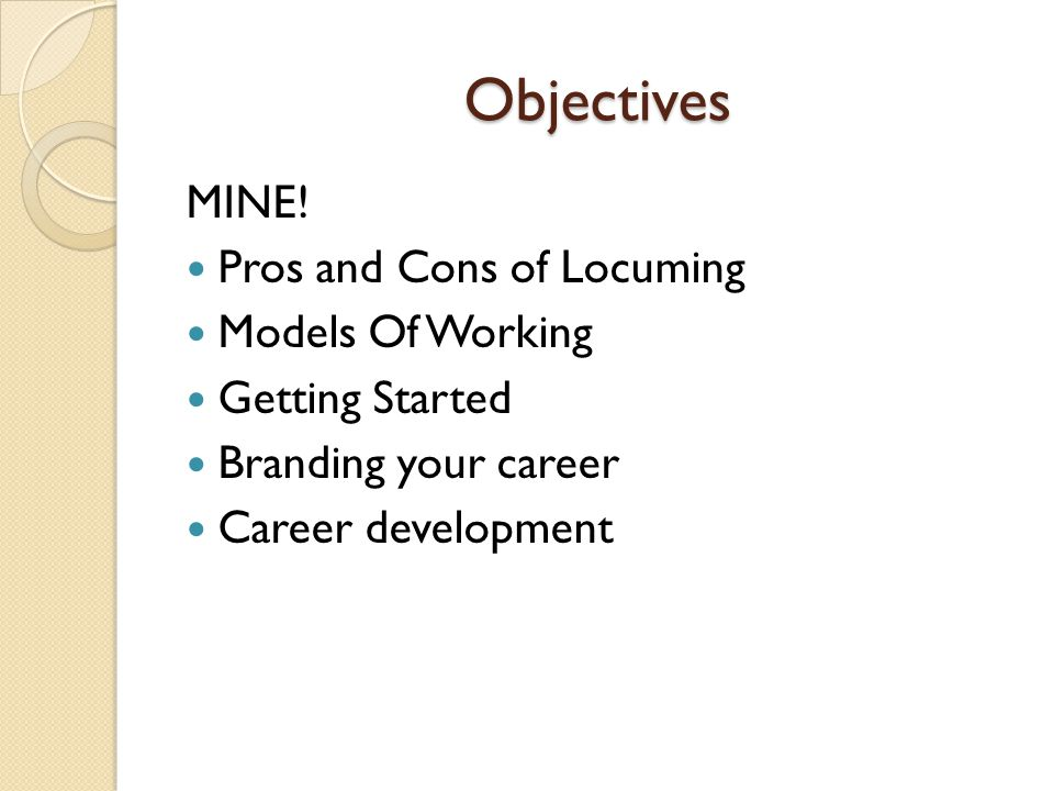 Objectives MINE.