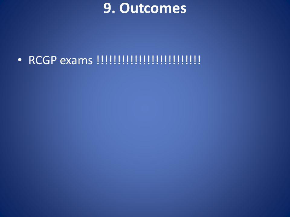 9. Outcomes RCGP exams !!!!!!!!!!!!!!!!!!!!!!!!!