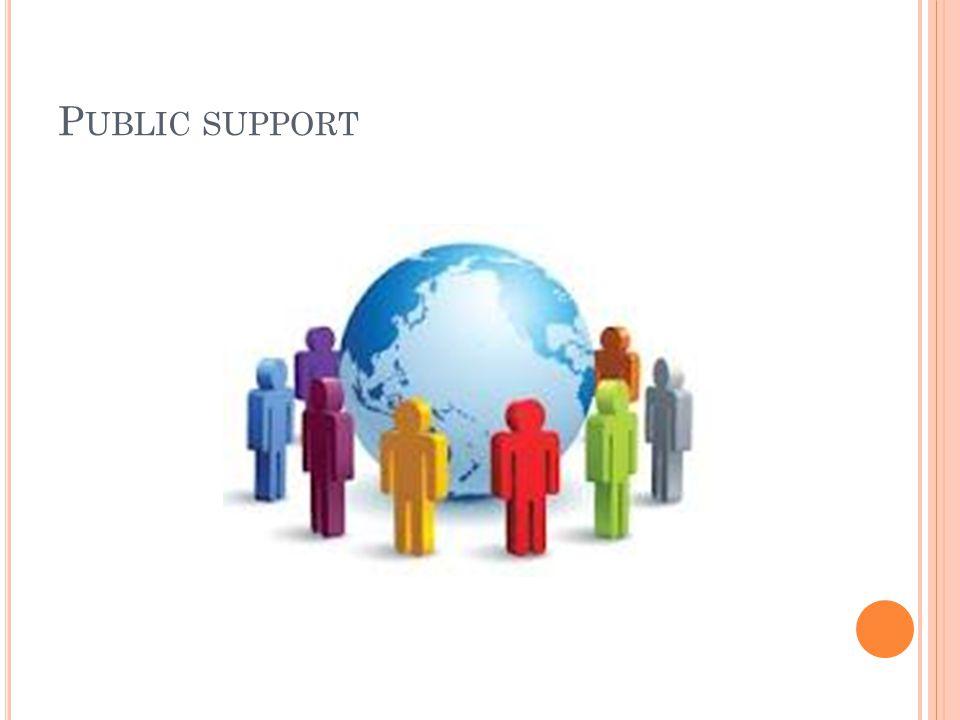 P UBLIC SUPPORT