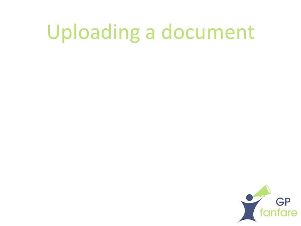 Uploading a document