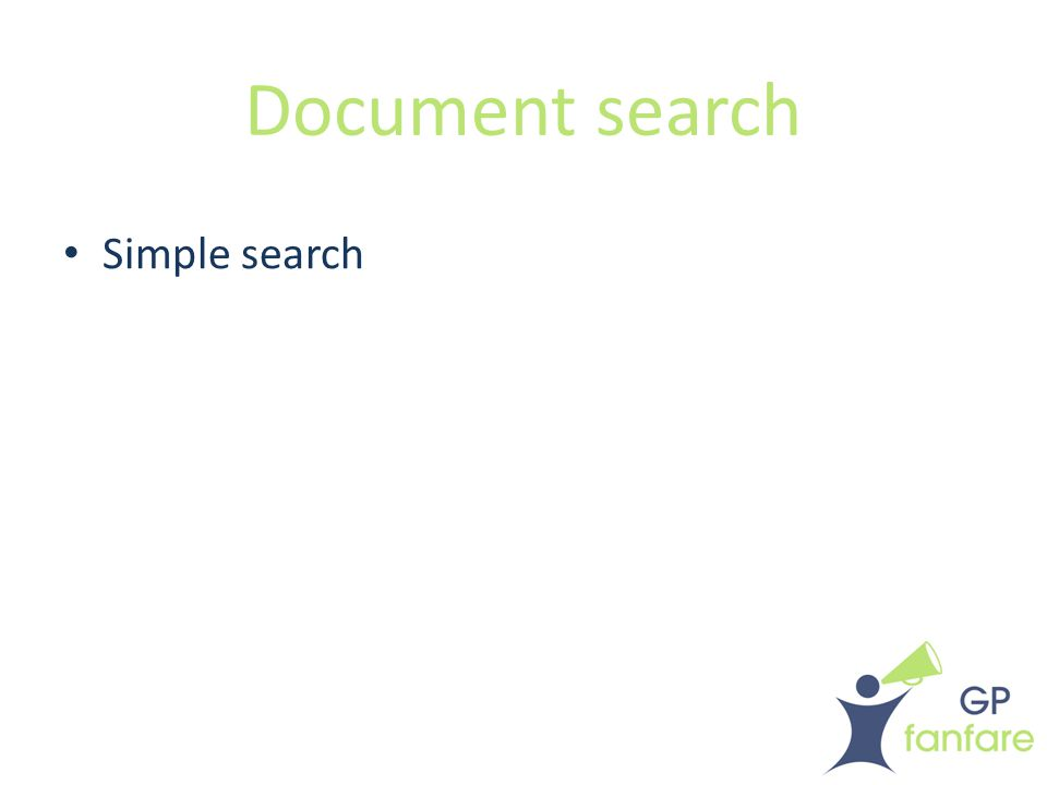 Document search Simple search