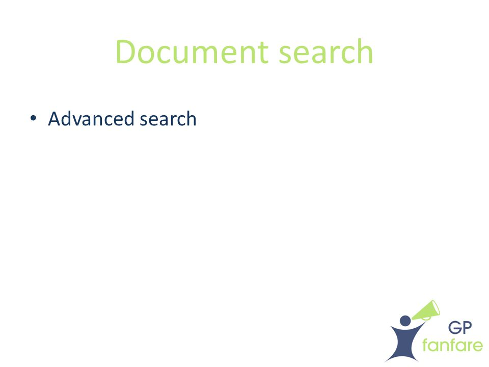 Document search Advanced search
