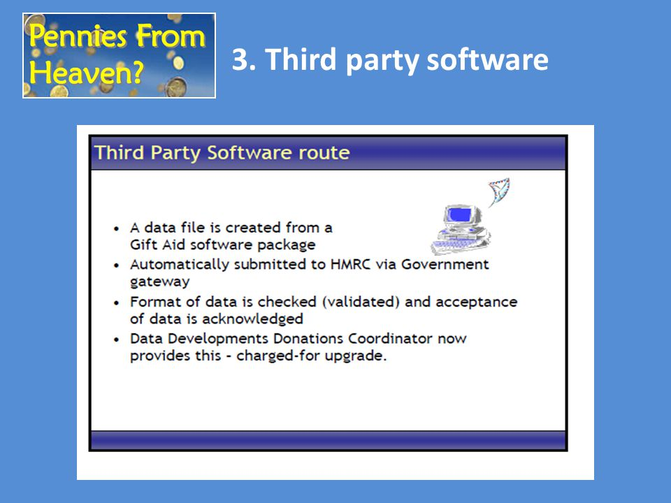 3. Third party software