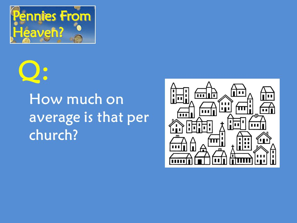 Q: How much on average is that per church?