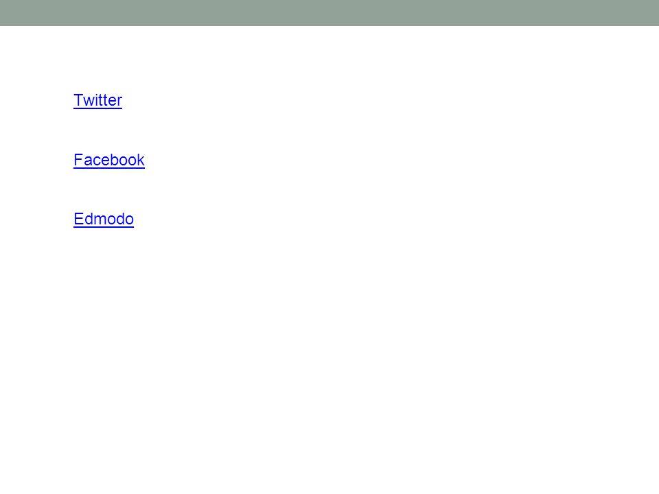 Twitter Facebook Edmodo