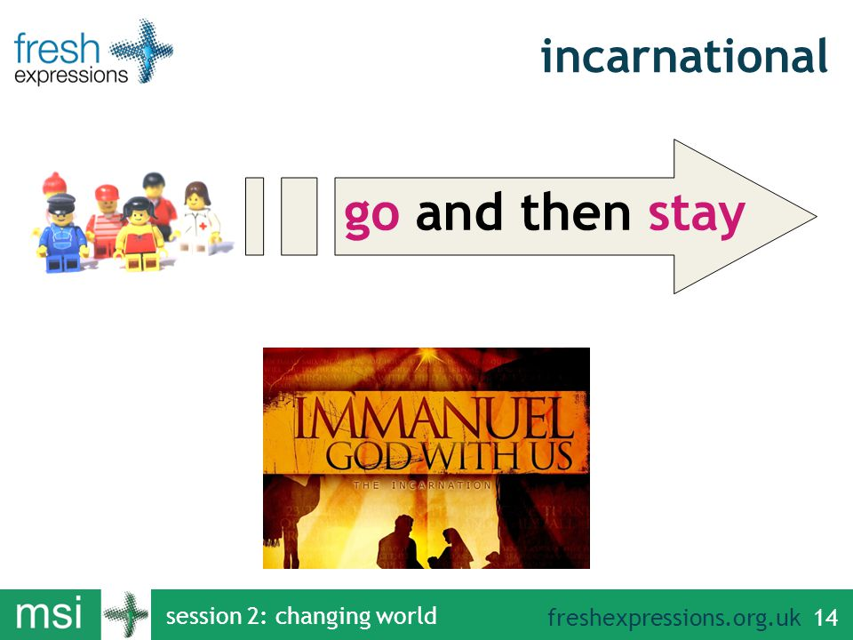 freshexpressions.org.uk session 2: changing world 14 go and then stay incarnational