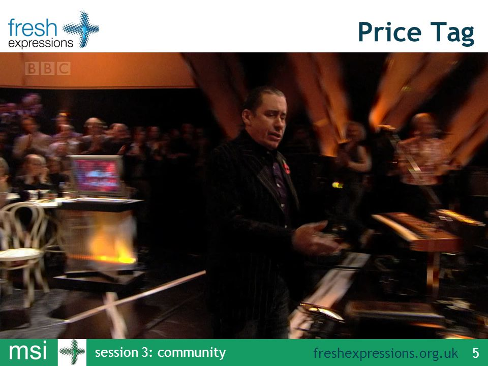 freshexpressions.org.uk session 3: community 5 Price Tag