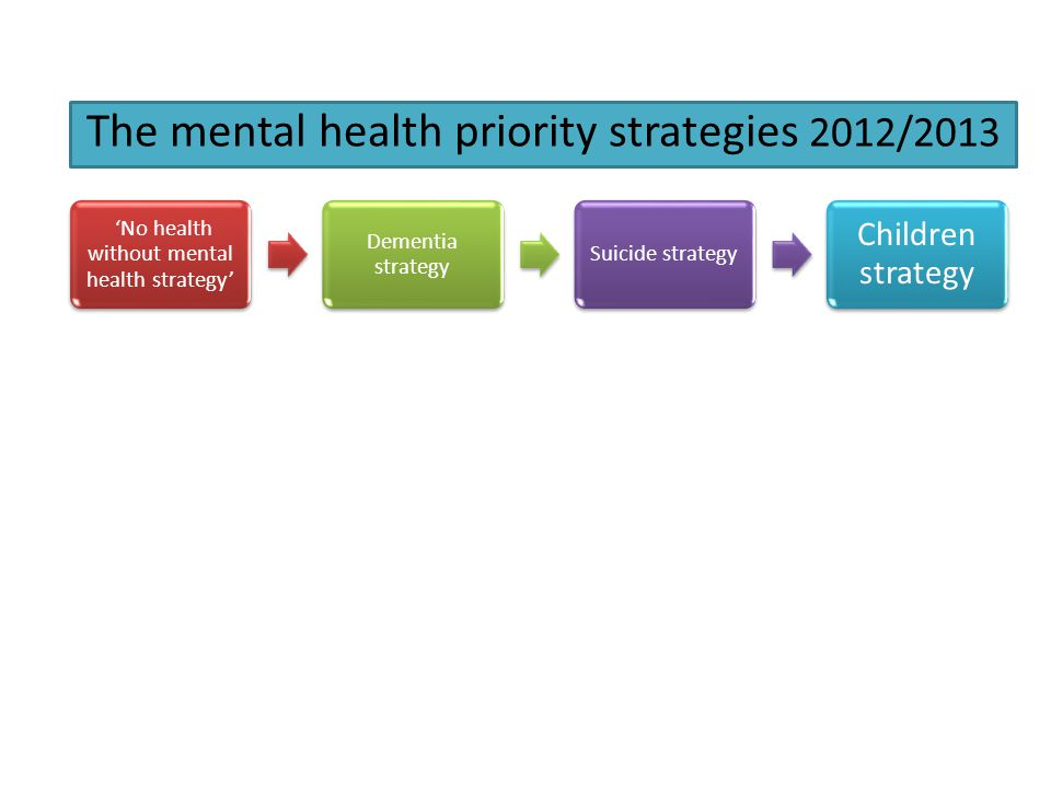 The mental health priority strategies 2012/2013