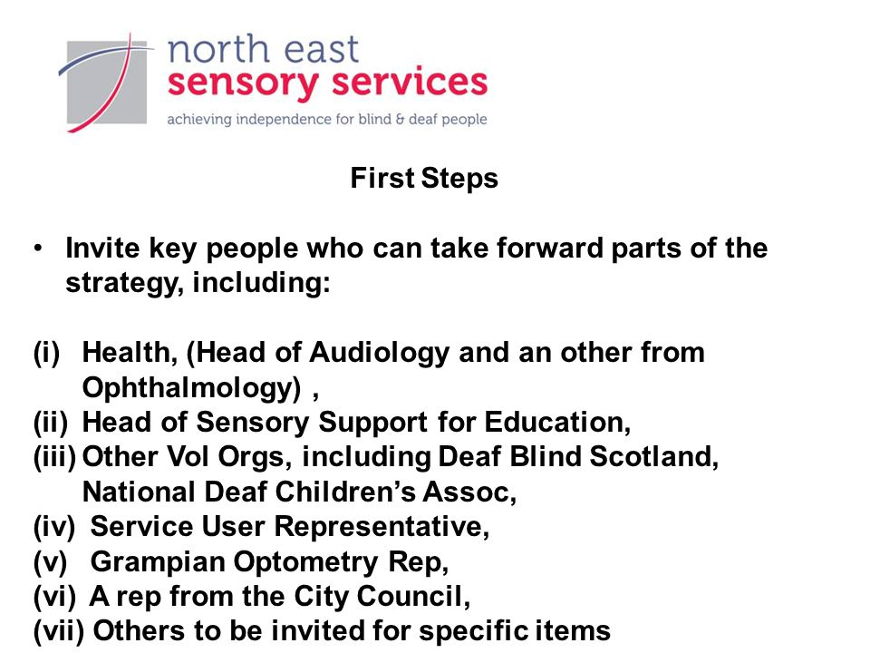 NESS and See Hear Strategy Invited by the Director of Social Care and Wellbeing to be Aberdeen City Councils' representative on the implementation group