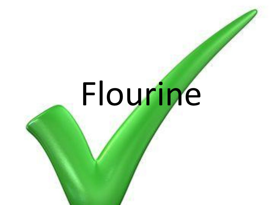 Element which is found in toothpaste