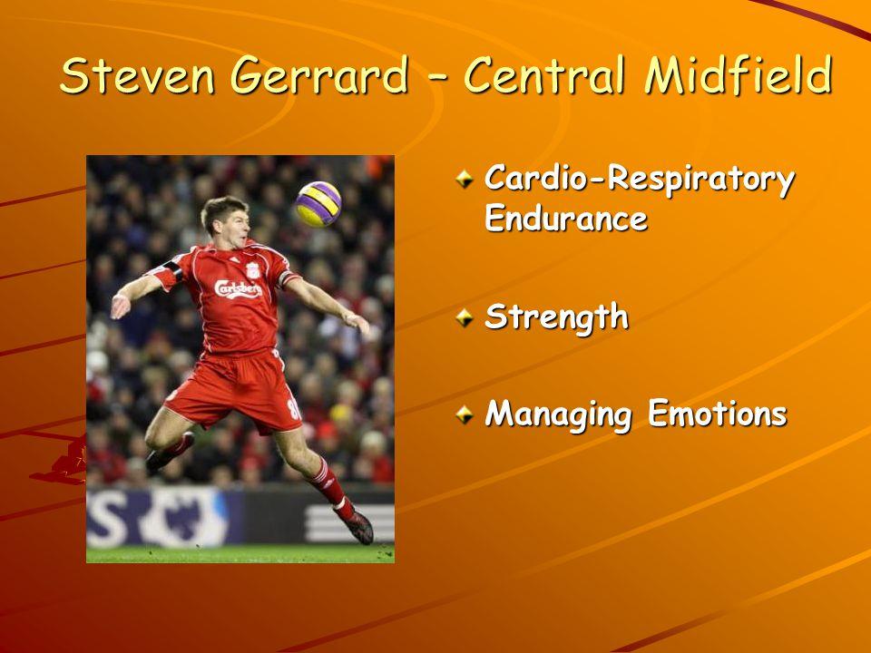 Steven Gerrard – Central Midfield Cardio-Respiratory Endurance Strength Managing Emotions