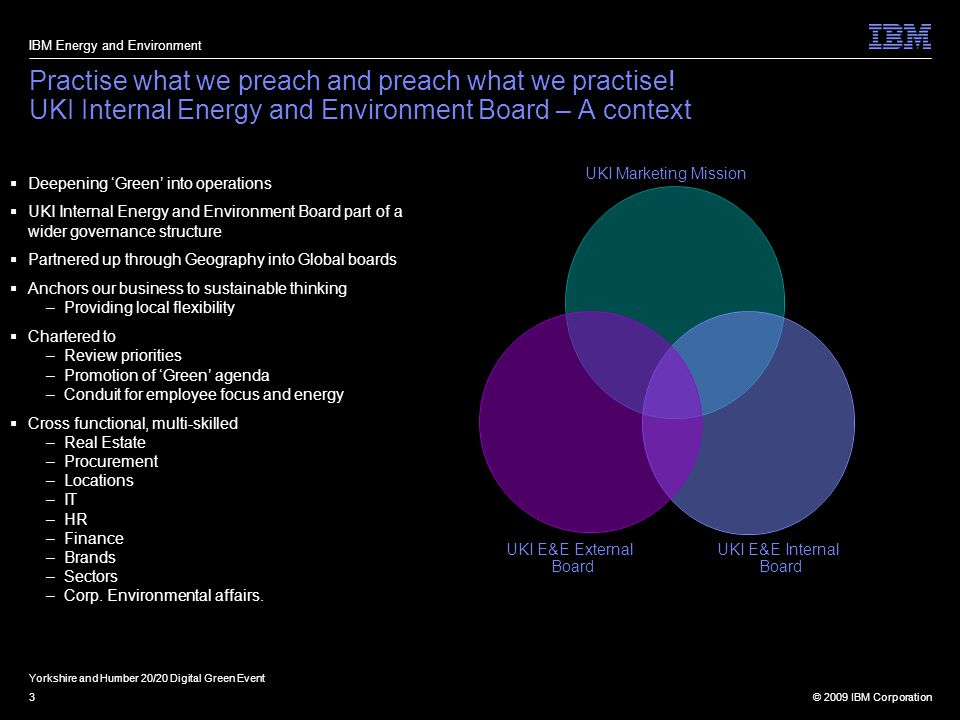 © 2009 IBM Corporation3 Practise what we preach and preach what we practise.