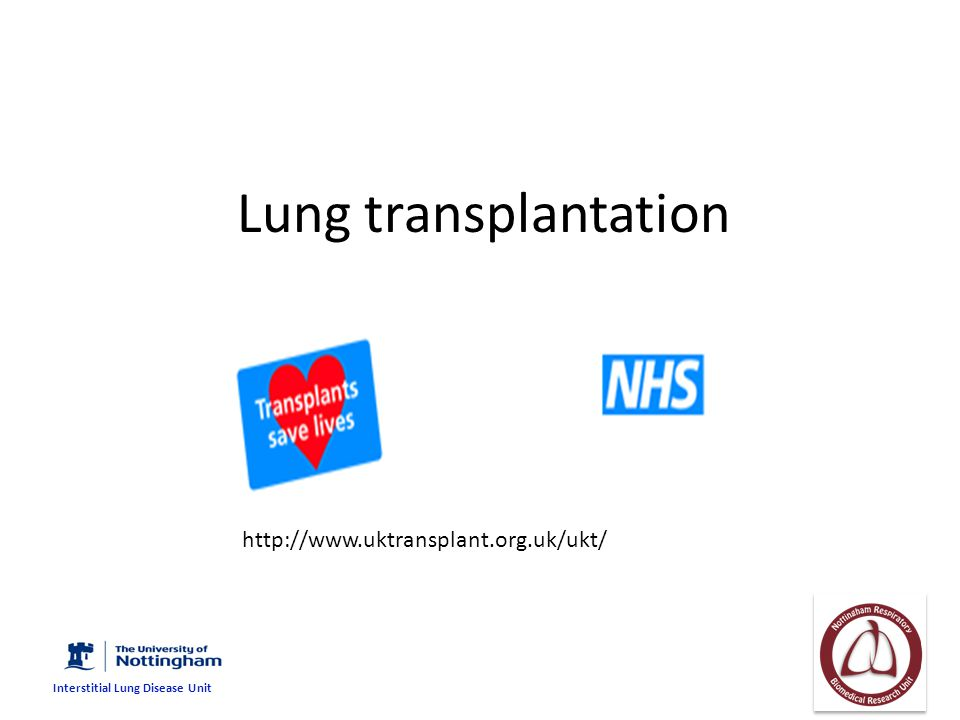 IPF is the second commonest indication for lung transplantation COPD34-38% IPF17-23% CF17-19% A lpha1-AT deficiency 9% Registry Data ISHLT lung transplantation 22 nd report 2005.