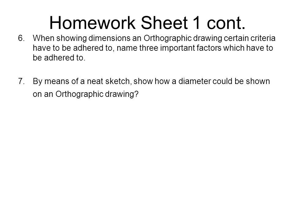 Homework Sheet 1 cont.