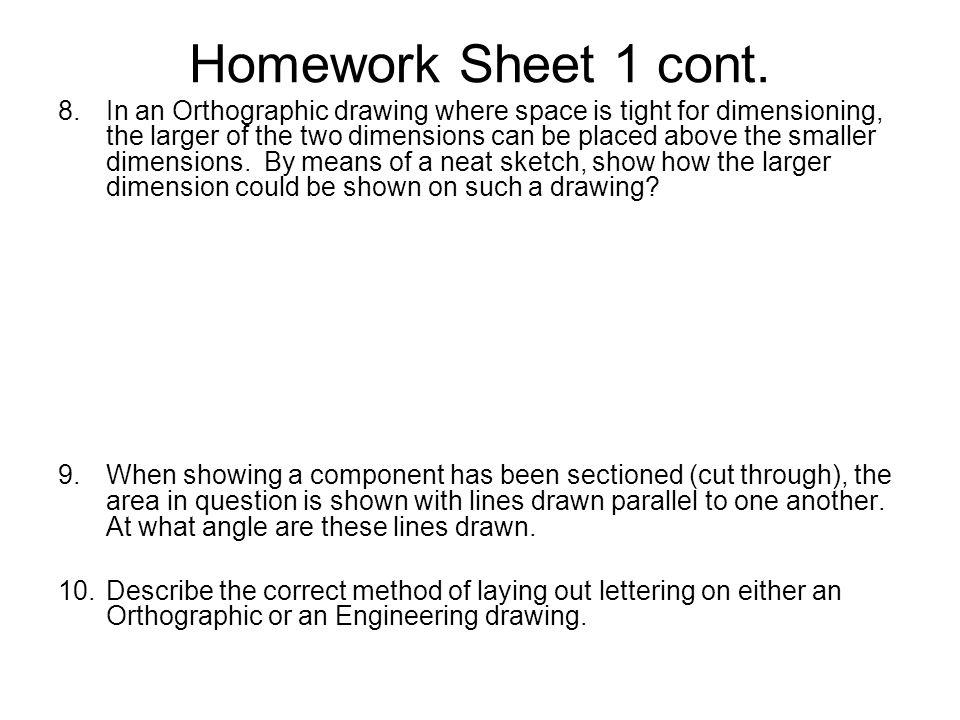 Homework Sheet 9 cont.