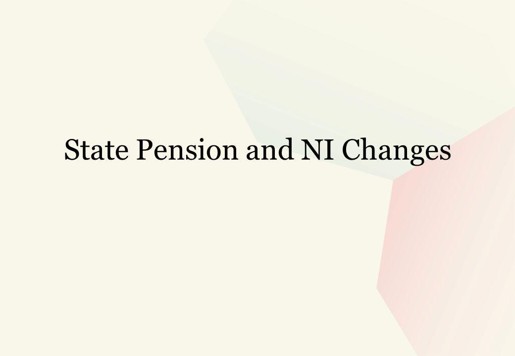 State Pension and NI Changes