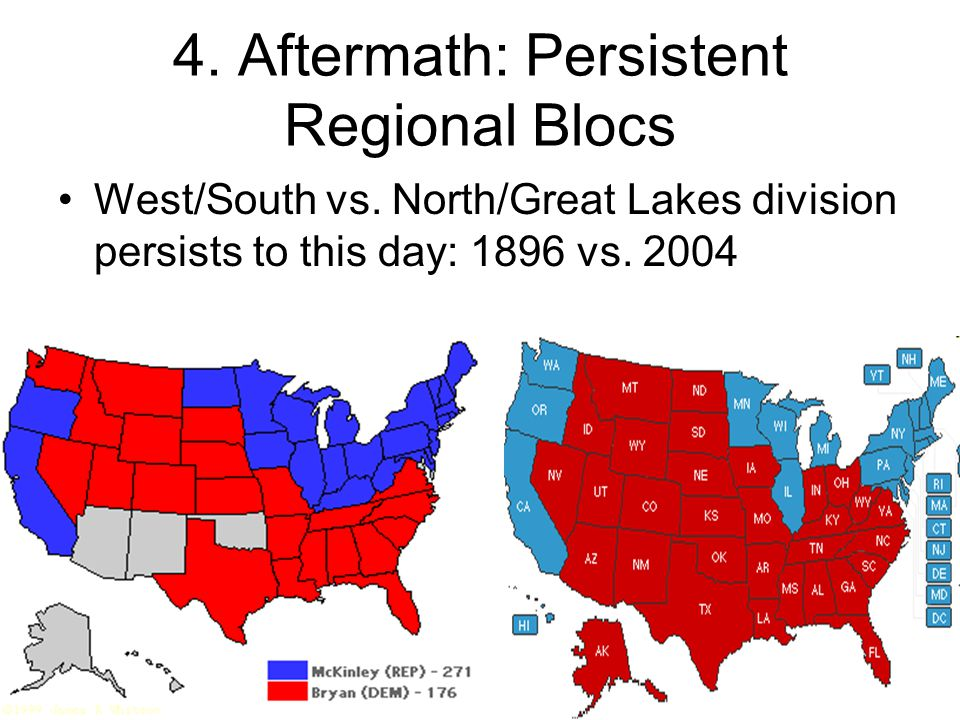 4.Aftermath: Persistent Regional Blocs West/South vs.