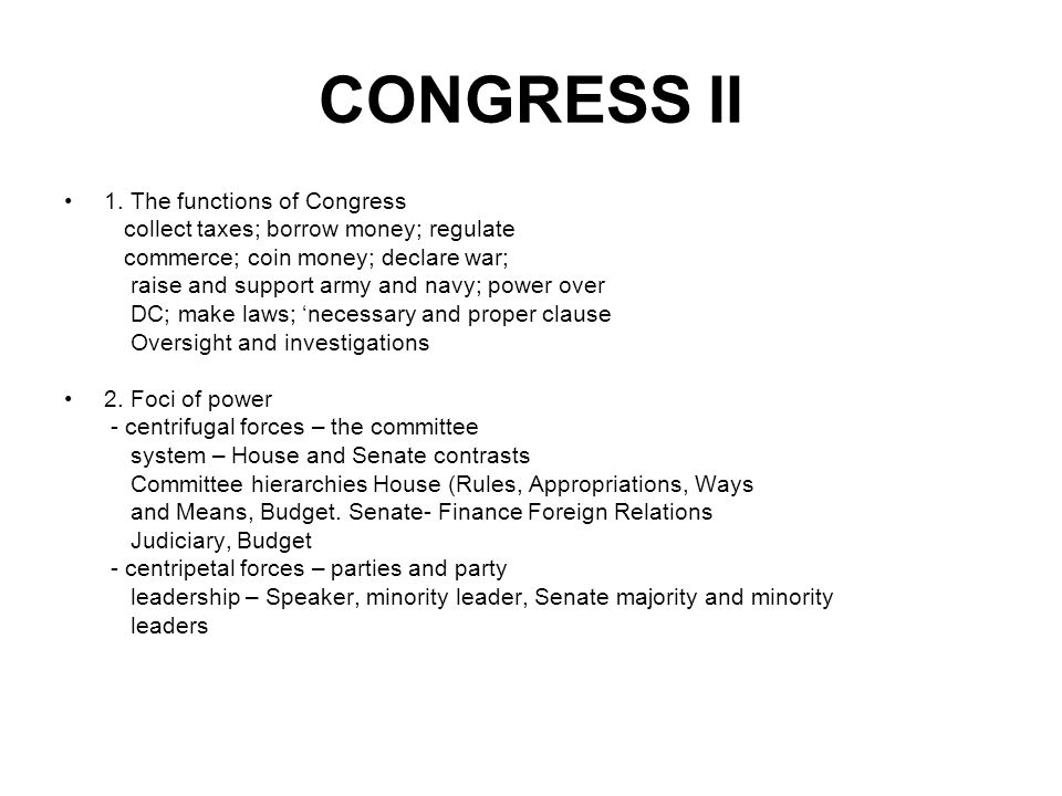 CONGRESS II 1.
