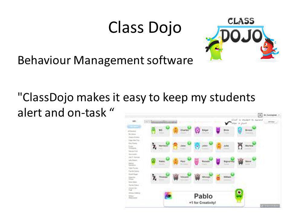 Class Dojo Behaviour Management software