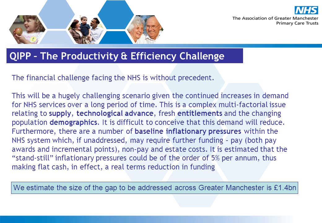 The financial challenge facing the NHS is without precedent.