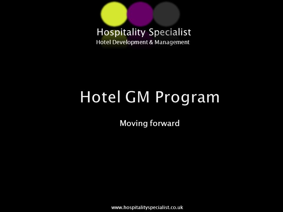 CONVERTCAPTURECONNECT Hospitality Specialist Hotel Development & Management www.hospitalityspecialist.co.uk Prepare for the future CCC