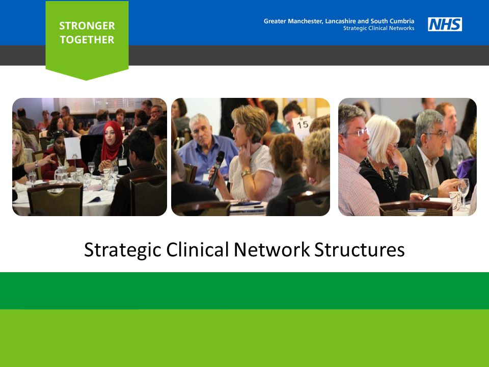 O UR STRUCTURE 2 Greater Manchester Area Team (Host Organisation) Greater Manchester Area Team (Host Organisation) Cardiovascular Council Mental Health, Dementia and Neurological Conditions Oversight and Planning Group NHS England Maternity, Children and Young People Senate Assembly Palliative and End of Life Care Cancer Dr Peter Elton Clinical Director for SCNs peter.elton@nhs.net Janet Ratcliffe Associate Director Professor Donal O'Donoghue Senate Chair Juliette Kumar Senate Manager janet.ratcliffe@nhs.net donal.o donoghue@srft.nhs.uk Juliette.kumar@nhs.net