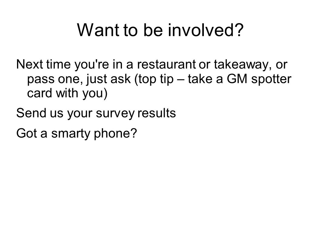 Want to be involved.