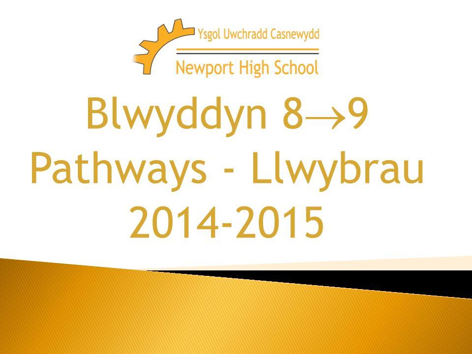 Blwyddyn 8  9 Pathways - Llwybrau 2014-2015