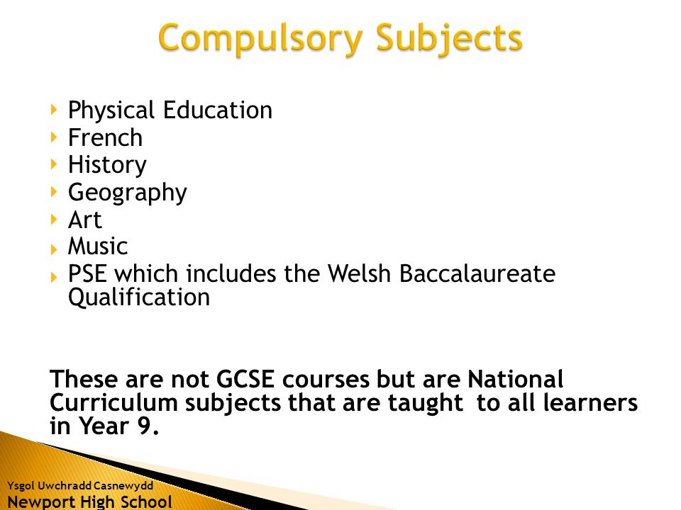 Ysgol Uwchradd Casnewydd Newport High School  In Year 9 we start the WJEC Short Course GCSE and study the following topics through the religion of Christianity.