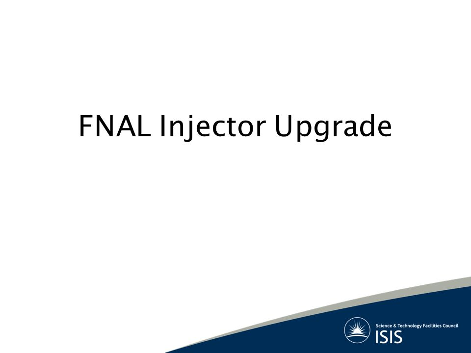 FNAL Injector Upgrade
