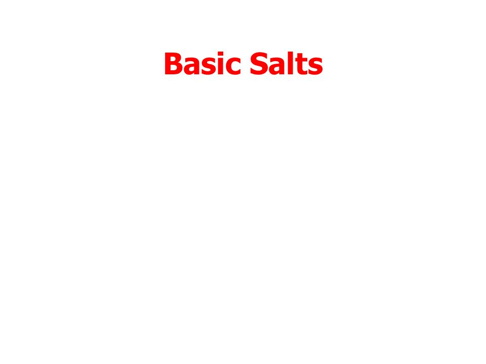 Acids + Bases A strong acid and a strong base produce a salt which is neutral.