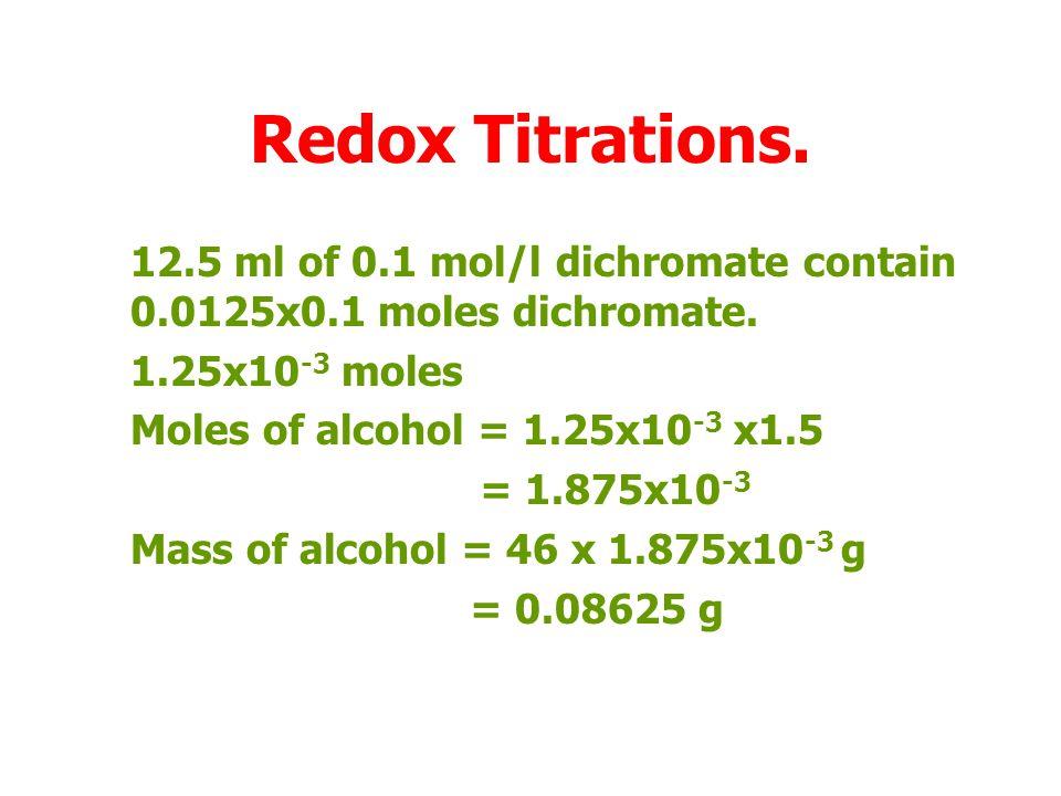 Redox Titrations.