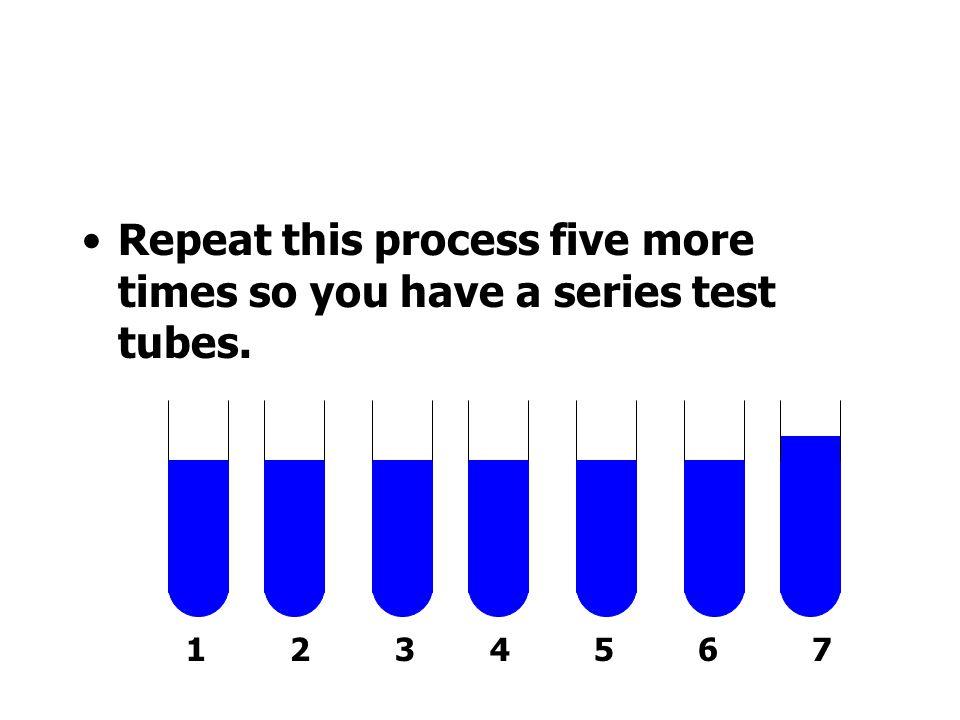 Add 9 ml of water to Tube 2 Tube 2 0.01 mol/l hydrochloric acid