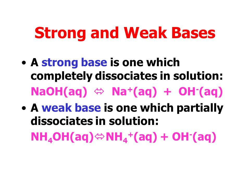 Weak Acids Solutions of ethanoic acid, carbon dioxide and sulphur dioxide are weak acids.