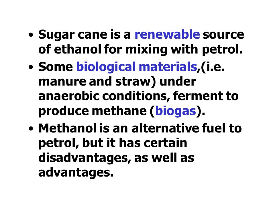 """Alternative fuels Fossil fuels are going to run out in the future. Fuels used produce carbon dioxide, which increases the """"greenhouse effect"""". We need"""