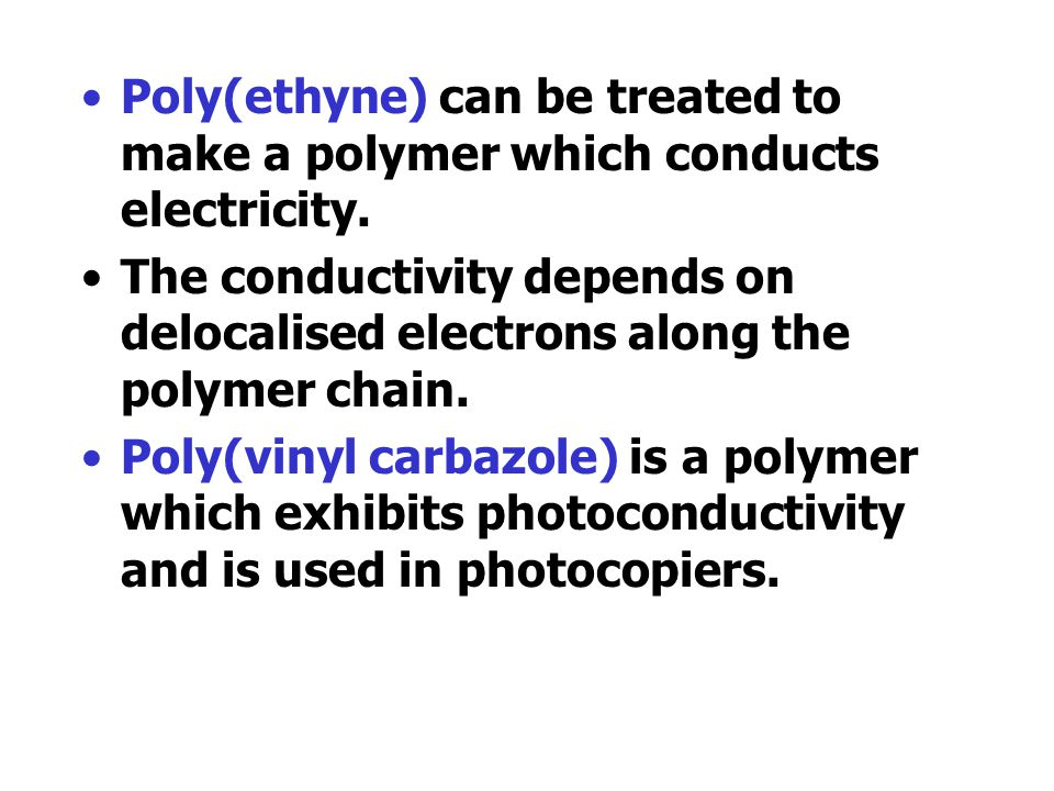 Poly(ethenol) is a plastic which readily dissolves in water. It has many important uses It is made from another plastic by a process known as ester ex