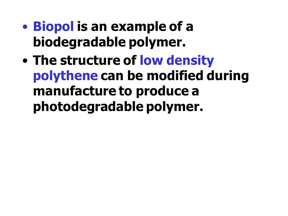 Poly(ethyne) can be treated to make a polymer which conducts electricity. The conductivity depends on delocalised electrons along the polymer chain. P